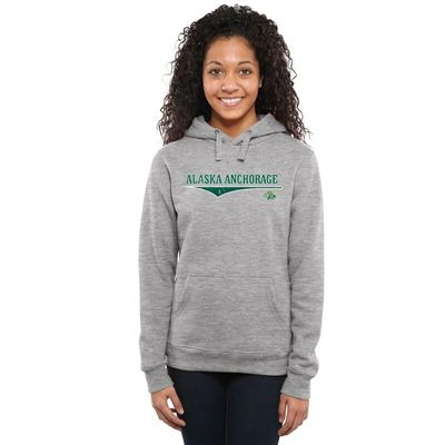 Alaska Anchorage Seawolves Women's American Classic Pullover Hoodie - Heather Gray