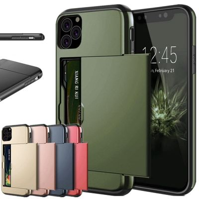 Business Phone Case For iPhone 11 Pro MAX 2019 XR XS X 10 Case Slide Armor Wallet Card Slot Cover for iPhone 11 XR XS MAX Fundas