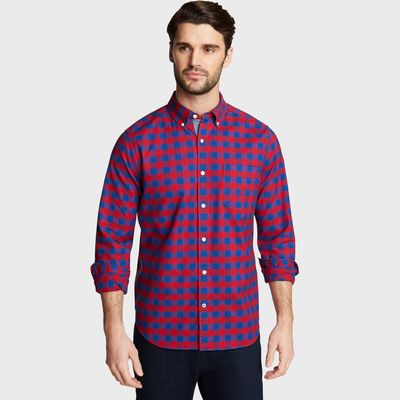 Nautica Classic Fit Oxford Shirt In Large Gingham