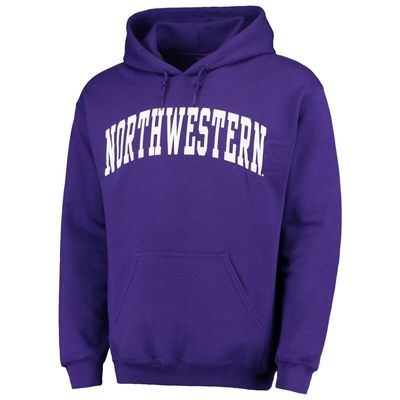 Northwestern Wildcats Fanatics Branded Basic Arch Pullover Hoodie - Purple
