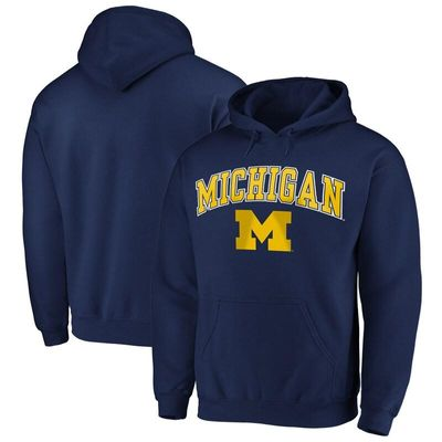 Fanatics Branded Michigan Wolverines Campus Pullover Hoodie - Navy