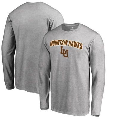 Lehigh Mountain Hawks Proud Mascot Long Sleeve T-Shirt - Ash