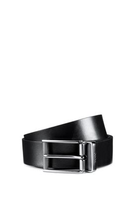 HUGO BOSS - Reversible Leather Belt With Pin And Plaque Buckles
