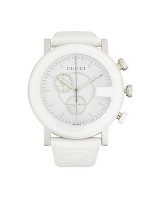 Gucci Stainless Steel & Rubber-Strap Chronograph Watch