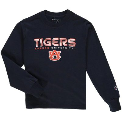 Auburn Tigers Champion Youth Jersey Long Sleeve T-Shirt - Navy