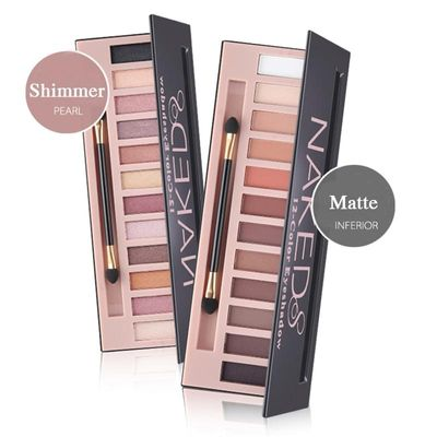Brand 12 Colors Shimmer Matte Nude Eyeshadow Makeup Palette Pigmented Long Lasting Eye Shadow Natural Eyes Cosmetics With Brush
