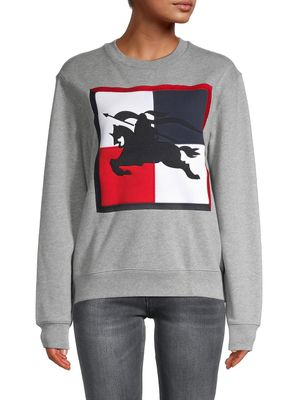 Burberry Colorblock Patch Logo Sweatshirt