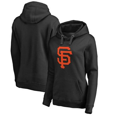 San Francisco Giants Women's Primary Logo Pullover Hoodie - Black