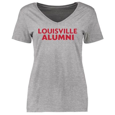 Louisville Cardinals Women's Louisville Alumni Signature Stack T-Shirt - Ash