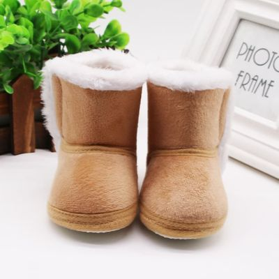 Baby Shoes Girls Winter Newborn Baby Girls Cashmere Plush Winter Boots Bandage Warm Shoes toddler boots buty zimowe niechodki@45