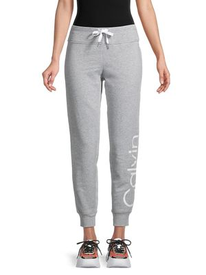 Calvin Klein Performance Logo Cotton-Blend Jogger Pants