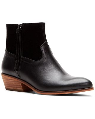 Frye And Co. Rubie Zip Leather & Suede Bootie