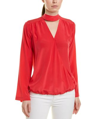 Trina Turk Fresco Silk Blouse