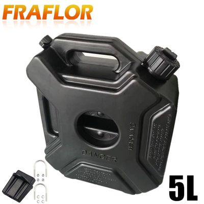 Black Green Color 5L Liters Car Motorcycle Fuel Spare Plastic Petrol Tanks Jerry Can Spare Plastic Barrels Fuel Tank Jerrycan
