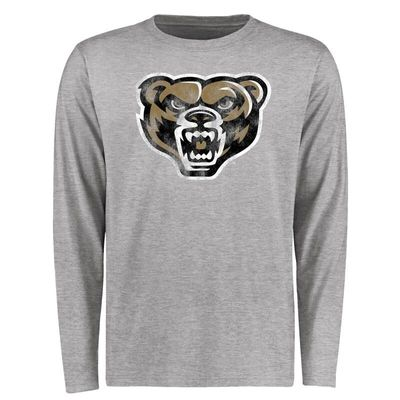 Oakland Golden Grizzlies Big & Tall Classic Primary Long Sleeve T-Shirt - Ash
