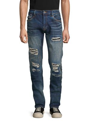 Cult Of Individuality Rocker Distressed Slim-Fit Jeans