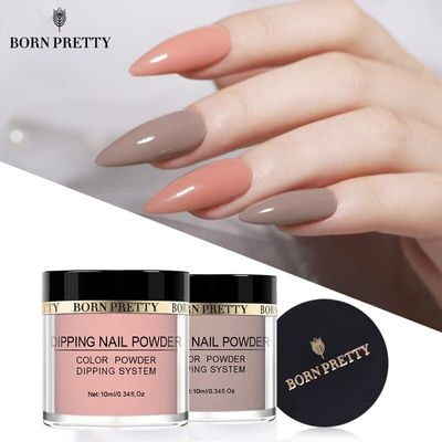 BORN PRETTY 10 ml Dipping Nail Powder  Nail Color Natural Dry Colorful Nail Art Pigment Dust Power Without UV Lamp Cure