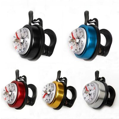 1PC Bicycle Bell Bike Compass Bicycle Bells Mountain Bike Handlebar Compass Ring Aluminum Cycling Bike Horn Bicycle Accessories