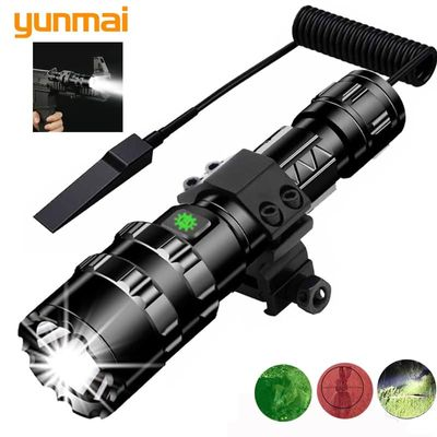 white / red light LED Flashlight Tactical torch powerful Rechargeable lamp L2 Hunting light 5 Modes flashlight hunting scopes