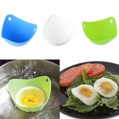 New Useful Safety Silicone Egg Poacher Easy Egg Cooker Mould Cooking Cups Boiler Cookware Microwave Tools Kitchen Gadgets