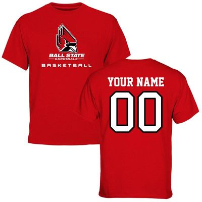 Ball State Cardinals Personalized Basketball T-Shirt - Red