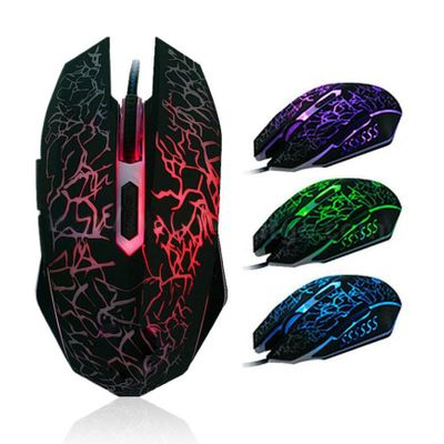 Binmer LED  Professional Colorful Backlight  Wired   Mouse 4000DPI Optical  Gaming  Mini Mice   For PC Laptop  18AUG7