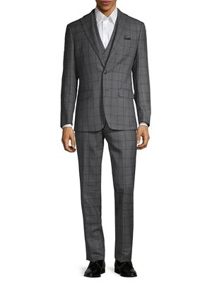 Tallia Orange Standard-Fit 3-Piece Wool-Blend Suit