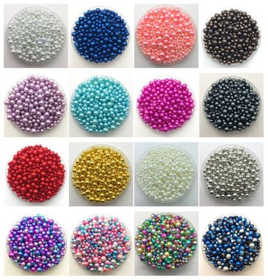 4~10mm Mix Size 15g Acrylic Round Pearl Spacer Loose Beads DIY Jewelry Making Fashion and Accessories