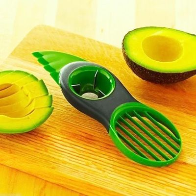 3 in 1 Plastic Avocado Slicer Knife Corer Fruit Peeler Cutter Pulp Separator Kitchen Practical Convenient Gadget