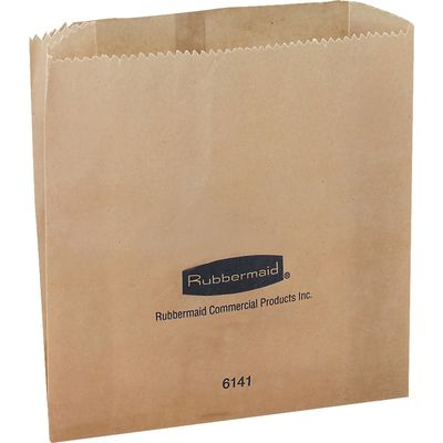 Rubbermaid Commercial Waxed Receptacle Bags, 250 / Carton (Quantity)