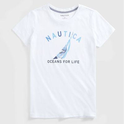 Nautica Sustainably Crafted Oceans For Life Graphic T-shirt