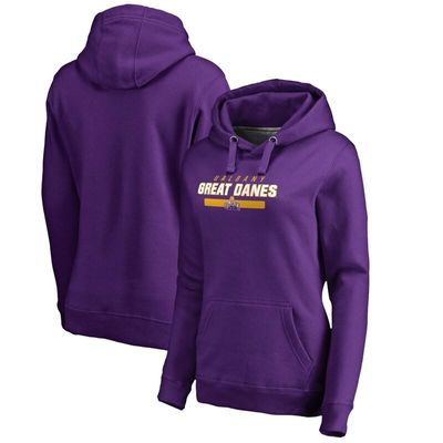 Albany Great Danes Women's Team Strong Pullover Hoodie - Purple