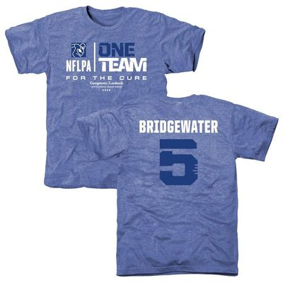 Men's NFLPA Teddy Bridgewater Blue One Team For The Cure T-Shirt