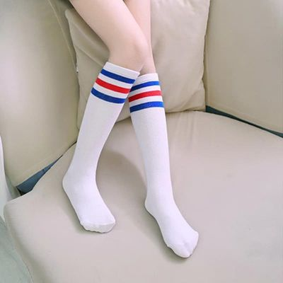 Striped simple Teenage girl fashion striped cotton tube children\'s socks cartoon cute for 1-12 years old baby girl