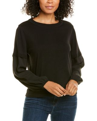 Lilla P Mixed Media Easy Silk-Blend Sweater