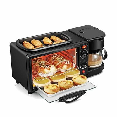 3 In 1 Electric Breakfast Machine Multifunction Coffee maker frying pan mini oven  household bread pizza oven frying panD398