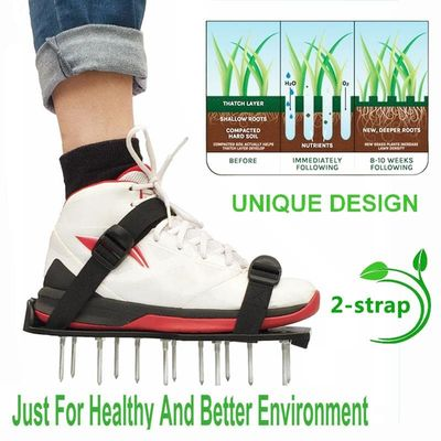 Garden Tool 1Pair Grass Spiked Gardening Walking Revitalizing Lawn Aerator Sandals Shoes Nail Shoes Tool Nail Cultivator Yard