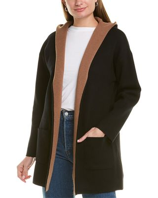 Max Studio Hooded Cardigan Coat