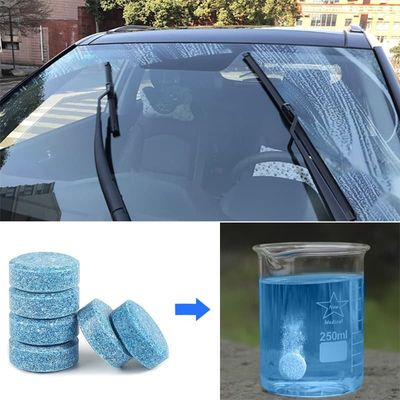 1pcs=4L Glass Fluid Screen Detergent Windshield Wiper Washer Concentrated Effervescent Tablets Solid Window Cleaner Car Tidy