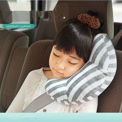 Kids Car Seat Headrest Pillow Seat Belt Cover Cotton Soft Pillow Vehicle Shoulder Pads Safty Belt Protector Cushion Neck Pillow
