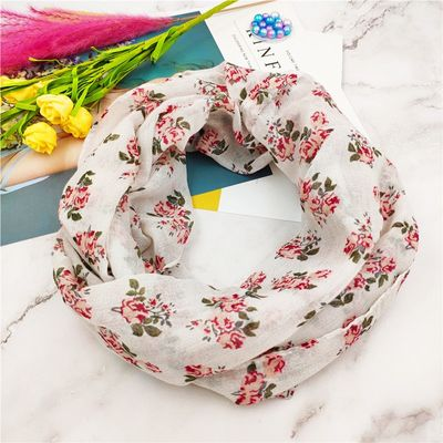 New women Infinity Scarf ring scarves Fashion rose flower print loop Scarves Snood Shawl Pashmina hot sale