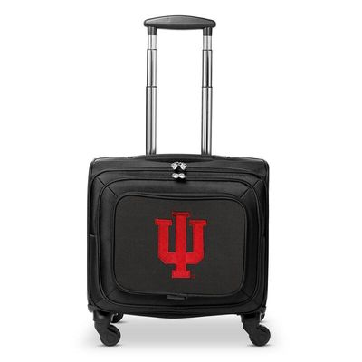 Indiana Hoosiers 14In 2-Wheeled Laptop Overnighter Travel Case - Black
