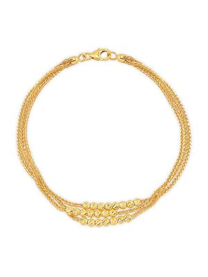 Saks Fifth Avenue Made in Italy 14K Yellow Gold Multi-Strand Bracelet