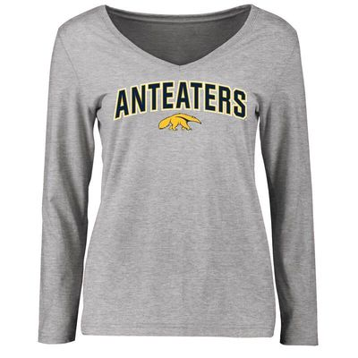 UC Irvine Anteaters Women's Proud Mascot Long Sleeve T-Shirt - Ash