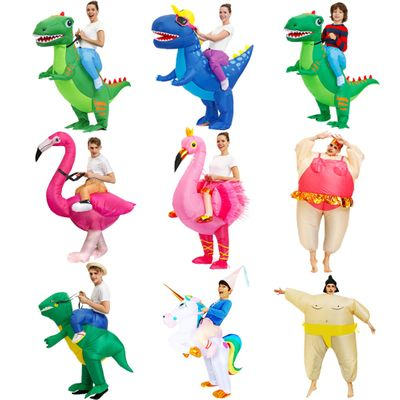 HOT Anime Dinosaur Inflatable costume Party mascot Alien costumes suit disfraz Cosplay Halloween Costumes For Adult kids dress