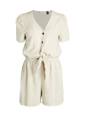 RD style Knotted Waist Romper