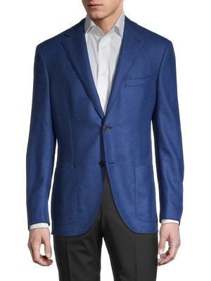 Luciano Barbera Standard-Fit Wool & Cashmere-Blend Jacket