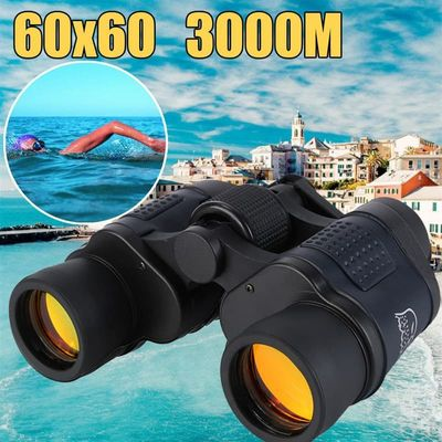 Telescope 60X60 HD Binoculars High Clarity 10000M High Power For Outdoor Hunting Optical Lll Night Vision binocular Fixed Zoom