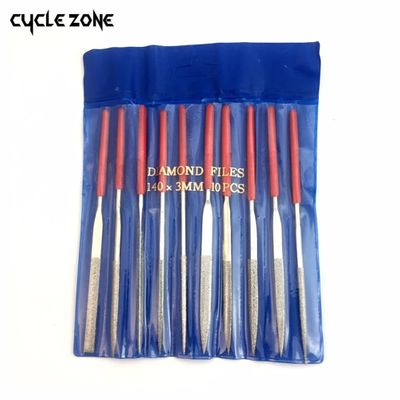 10 Pieces 140mm Diamond Mini Needle File Set Handy Tools for Ceramic Glass Gem Stone Hobbies and Crafts
