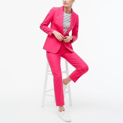 J.Crew Factory Petite Linen-cotton Holland Blazer